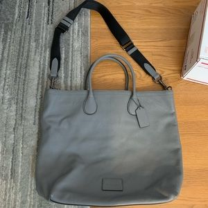 Coach Large Gray Tote with Shoulder Strap